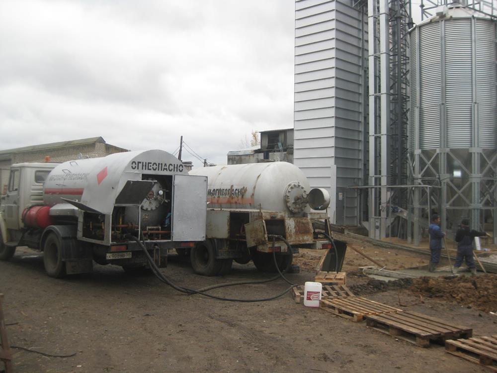 Заправка зерносушильного комплекса «ГАЗОСНАБ»