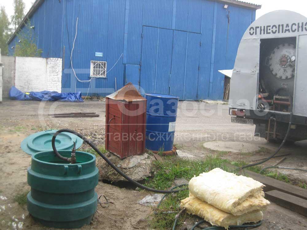 Заправка газом газгольдера в Ярославской области «ГАЗОСНАБ» 2