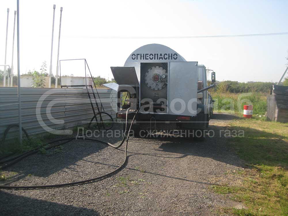 Заправка газом газгольдера в Ярославской области «ГАЗОСНАБ» 1
